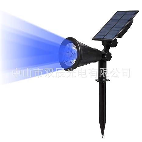 Luces solares Luces de la calle Proyectores de color RGB ...