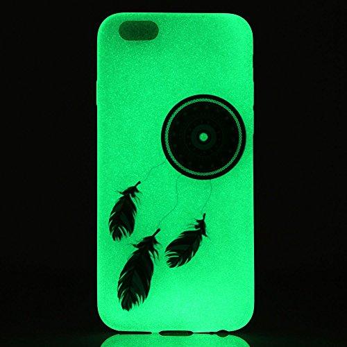 Coque Etui iPhone 6 / 6S Plus , Leiai Fleur Bleue Silicone Gel Case Avant et Arrière Intégral Full Protection Cover Transparent TPU Housse Anti-rayures pour Apple iPhone 6 / 6S Plus