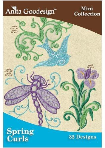 (Anita Goodesign Embroidery Designs CD SPRING CURLS)