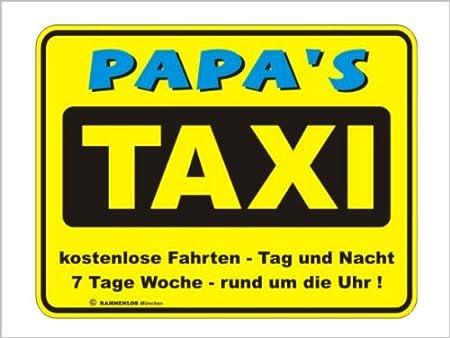 Cartel de chapa, con relieve, aluminio Papa s Taxi ...
