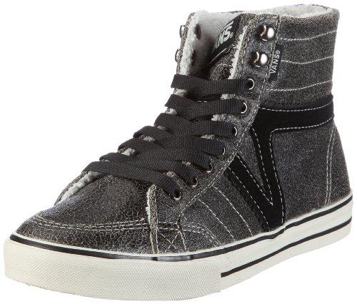 Vans W CORRIE HI (Leather) Black VKWLL3A - Zapatillas de cuero para mujer Negro