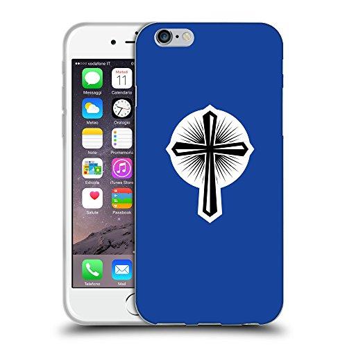 GoGoMobile Coque de Protection TPU Silicone Case pour // Q09360613 Croix chrétienne 46 Bleu // Apple iPhone 7