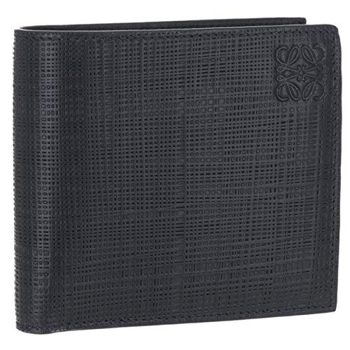 LOEWE(ロエベ) 財布 メンズ LINEN 2つ折り財布 BLACK 10188501-0039-1100 [並行輸入品] B07FKGZX4F