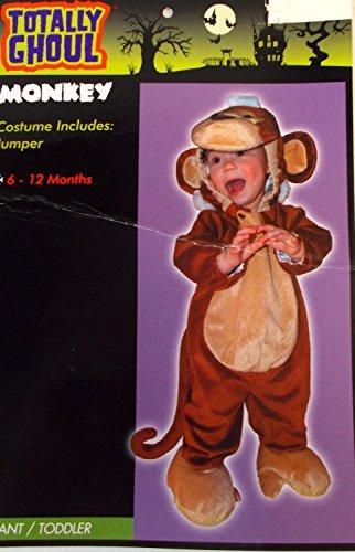 Monkey Child Infant Costume Jumper 6-12M NIP