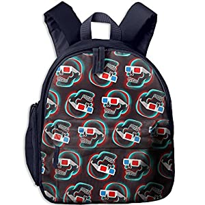 ShaVonNa Children School Bags Fashion Skull With Sunglasses Durale Book Bag Backpack