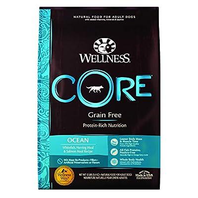 Wellness CORE Natural Grain Free Dry Dog Food, Ocean Whitefish, Herring & Salmon, 12-Pound Bag