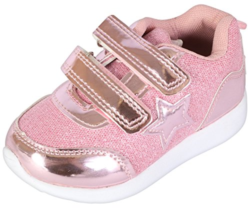 Gerber Baby Girls Glitter Coated Early Walker Sneakers, Light Pink, 5 M US Toddler' by Gerber