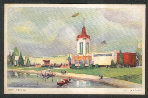 Hall of Religion Century of Progress 1933 postcard
