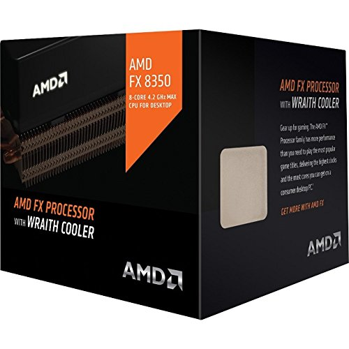 AMD CPU FD8350FRHKHBX FX-8350 8Core AMD AM3 16MB 4200MHz 125W with Wraith Cooler Retail by AMD