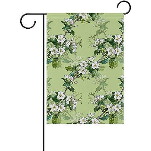 - Staroutah Apple Blossom Polyester Garden Flag Outdoor Flag Home Party Garden Decor 12 x 18 Inch