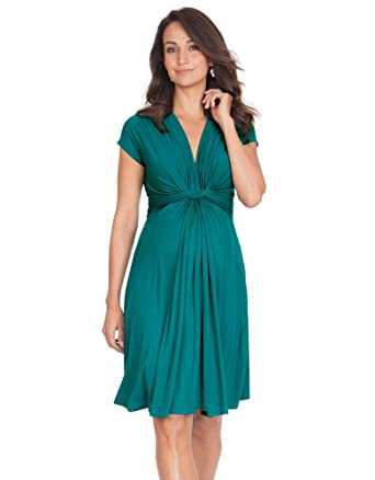 1877312c34666 Seraphine Jolene Knot Front Maternity And Nursing Dress - Short Sleeve -  Peacock - 14 at Amazon Women's Clothing store: