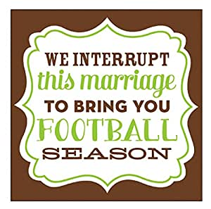 Slant Cocktail Napkins 20 Count - We Interrupt This Marriage To Bring You Football Season