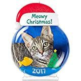 Hallmark Keepsake 2017 Meowy Christmas! Cat Picture Frame Dated Christmas Ornament
