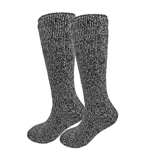 HIGHCAMP Winter Thermal Socks for Women Men Youth Warm Soft As Cashmere (H. Grey Extra Long, L/XL)
