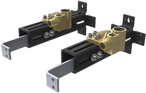 Moen TS50200 Collection Freestanding Tub Filler Double Riser Floor Joist Mounting Kit, Rough-in Valve