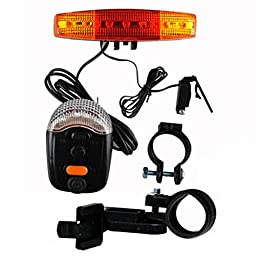 Safety Equipment 7 PCS Bright with 8 Type Alert Sound Bike Accessories Right and Left Safety Necessary Gadget Best Gift Sporting DIY Kit Checklist easy Install and use BK1E-9