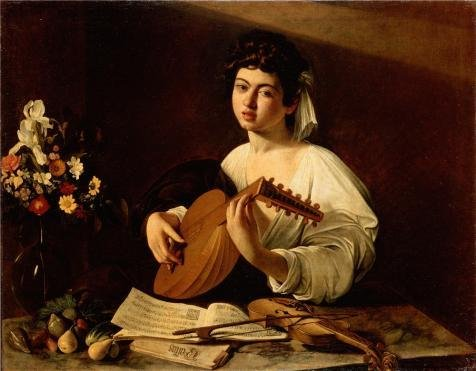 [Oil Painting 'The Lute Player ,1595 By Michelangelo Merisi Da Caravaggio' 20 x 26 inch / 51 x 65 cm , on High Definition HD canvas prints is for Gifts And Basement, Home Theater And Kitchen] (Museum Of Country Life And Costume)