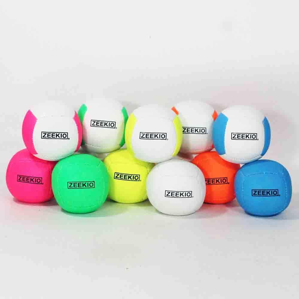 Professional UV Reactive 6 Panel Balls 3 110g White//Blue Zeekio Lunar Juggling Ball Set -