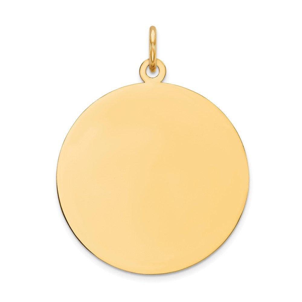 14k Yellow Gold Round Disc Charm