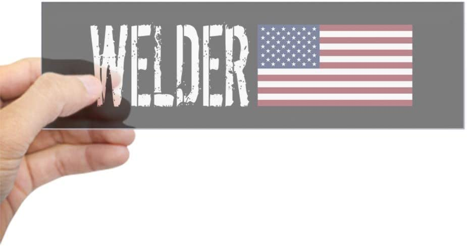 Welding: Welder /& American Flag Sticker Sticker rect. CafePress