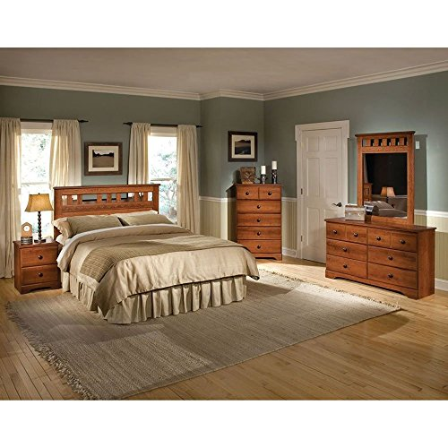 Cambridge Seasons Five Piece Suite: Queen Bed, Dresser, Mirror, Chest, Nightstand Bedroom Furniture Sets