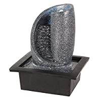 Stone Spiral LED Lit Tabletop Indoor Water Feature