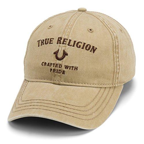 True Religion Men's Core Logo Baseball Cap, Wheat, One Size