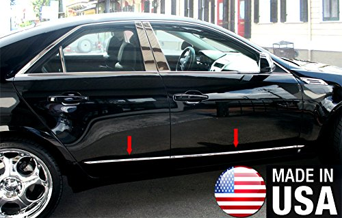 Made in USA! Works with 2008-2013 Cadillac CTS Rocker Panel Trim Body Side Moulding 1/2