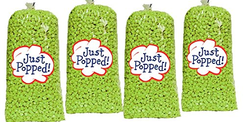 Popcorn Green (St. Patrick's Day Green Colored Party Popcorn 4-Pack (72 Cups per Case))