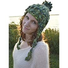 Knitting Kit: Women's Bulky Earflap Hat from Knit Collage (Plus free Designer Additions!) (Amazon Moss)