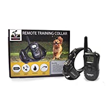 Rechargeable Remote Controlled Dog Training Collar, with Vibration, Shock & Tone Settings. Waterproof, Submersible, Safe for Behavior, No Jump, No Bark, Sport, Obedience, & Hunting Training with Remote Management up to 900+ feet, By Downtown Pet Supply