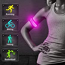 BSeen LED Armband, Glow in the Dark Led Slap Bracelets Event Wristband For Men& Women, Night Safety Lights For Running, Jogging, Cycling, Hiking
