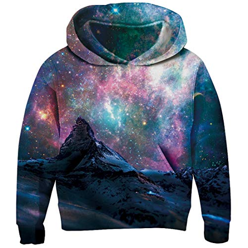 - RAISEVERN Big Boys 3D Starry Sky Pattern Hoodies Stylish Funny Cute Sweatshirt Gym Comfy Pullover Hoody Outfits Age 13-14