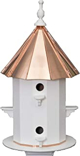 """product image for Saving Shepherd 6 Room 30"""" Birdhouse - Weatherproof Azek Vinyl with Copper Top Bird House Amish Handcrafted in Lancaster Pennsylvania USA"""