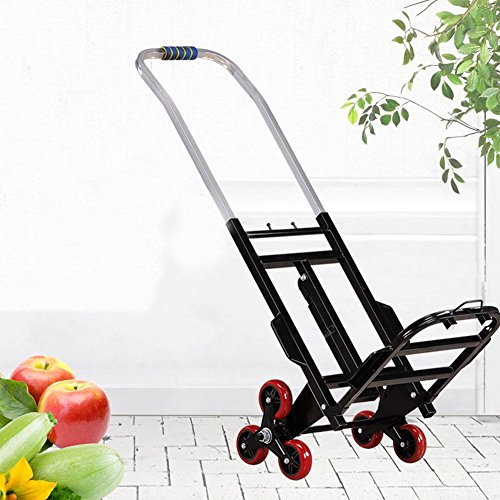 LUCKYYAN Stair Climbing Multipurpose Folding Utility Cart, Foldable Food Car Goods Car