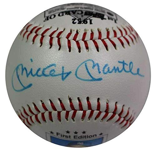 - Mickey Mantle Signed 1989 Topps First Edition Rookie Card Baseball Loa Pc945 - JSA Certified - Baseball Slabbed Autographed Cards