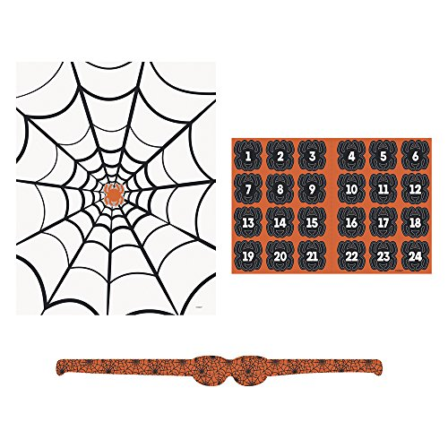 Halloween Pin The Spider on the Web Party Game -