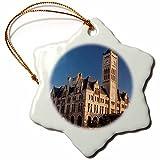 3dRose orn_146514_1 Union Station Hotel, Nashville, Tennessee, Use Us43 Bjn0012 Brian Janssen Snowflake Ornament, Porcelain, 3''