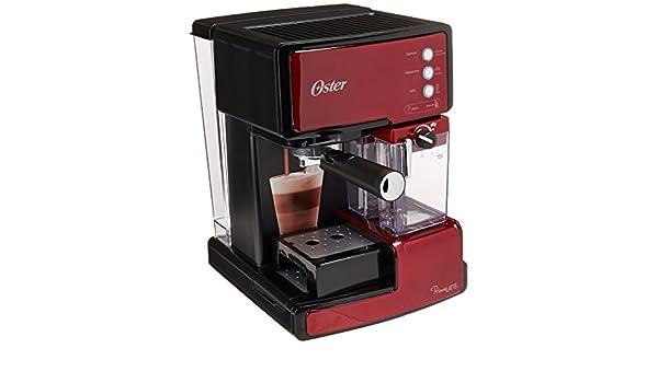 OSTER BVSTEM6601R060 - Cafetera de Espresso Manual, Color Rojo ...