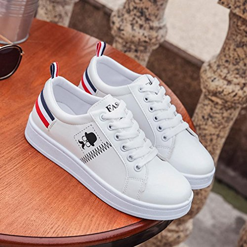 Inside Colorful Outside Teen Shoes White Shoes Summer for Striped Walking Girls Vacation Beard TM Flat Casual Women Sneakers White Fashion Spring Autumn Ladies AqWrHgwUA