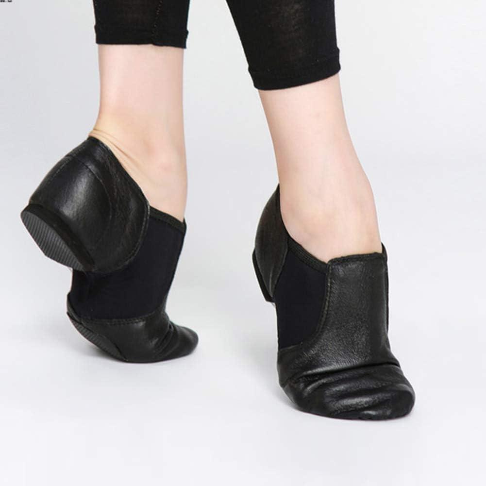 MSMAX Leather Jazz Dance Shoe Toddler//Little Kid