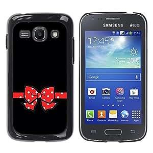 Be Good Phone Accessory // Dura Cáscara cubierta Protectora Caso Carcasa Funda de Protección para Samsung Galaxy Ace 3 GT-S7270 GT-S7275 GT-S7272 // Mouse Red Poke Dot Black Minimali