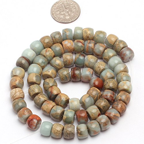 6x8mm Natural Semi Precious Rondelle Shoushan Stone Gemstone Beads for Jewelry Making Strand 15