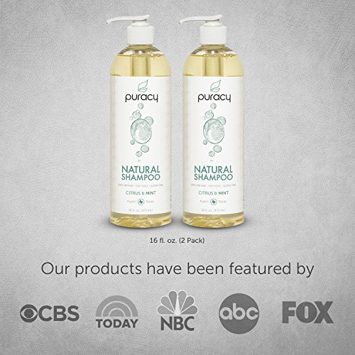 Puracy Natural Daily Shampoo Set [2-Pack], Sulfate-Free, Plant-Powered, Salon-Tested for All Hair Types, 16 Ounce Pump Bottle [Set of 2] by Puracy (Image #3)