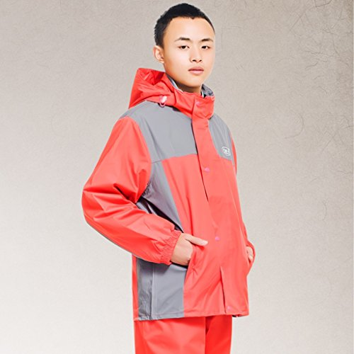Xin Yu Yue Firm Männer und Frauen einzelne Regenmäntel Paar Anzug Erwachsene Outdoor Regenmantel (Farbe   Rot, größe   L)