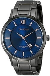 Armitron Men's 20/4987BLDG Navy Blue Dial Gunmetal Bracelet Watch
