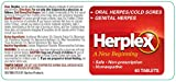 Herplex Herpes Treatment - Tablets for Herpes Outbreaks & Cold Sore Treatment with No Side Effects - Prevents Outbreaks - HSV2 Treatment Quickly Eases Herpes Outbreaks and Cold Sore Symptoms