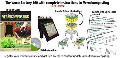 Amazon.com: Worm Factory 360 Compostador de gusanos, Verde ...