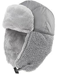 Faux Fur Trapper Hat for Men Cotton Warm Ushanka Russian Hunting Hat
