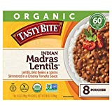 Tasty Bite Organic Vegetarian All Natural Indian Madras Lentils: Lentils, Red Beans, & Spices Simmered in a Creamy Tomato Sau